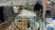 Stock Video Footage of Shopping cart at register fast tl P HD 0016