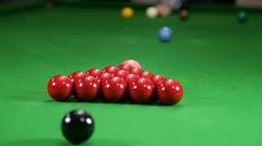 Snooker Break Stock Footage