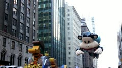 Julius balloon in Macy's parade Stock Footage