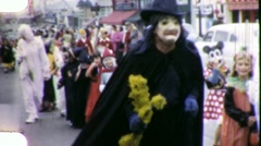Children in Halloween Parade Circa 1957 (Vintage Home Movie Footage) 1798 Stock Footage