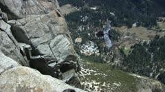 Yosemite Falls Raven Stock Footage