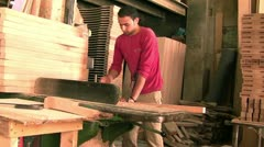 carpenter doing his duty - stock footage