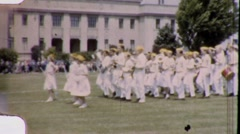 High School Band Orchestra Circa 1955 (Vintage Film Home Movie)  1805 - stock footage