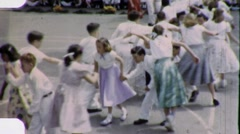Satanic Rite CHILDREN KIDS DANCE Around Maypole Vintage Film Home Movie 1804 Stock Footage