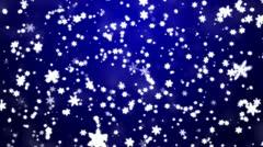 Joulun taustalla lumihiutaleet - lunta Arkistovideo