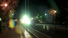 On Comming Train Stock Footage