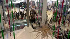 Christmas Shopping 1 - stock footage