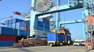Stock Video Footage of timelapse sea port 01