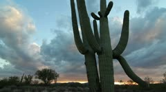 Dramatic America Southwest Sunset Time Lapse Stock Footage