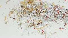 Shredded Paper Toss - stock footage