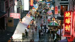 China street scene - stock footage
