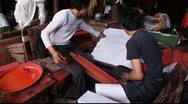 Tibetan printing Stock Footage