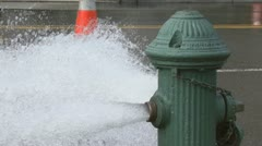 2 of 2 Fire Hydrant Spraying - stock footage