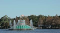 Lake Eola Fountain Stock Footage