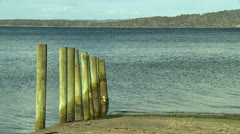 Old Boat Ramp Stock Footage