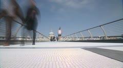 Millenium Bridge Timelapse 2 Stock Footage