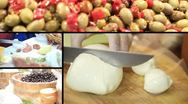 Stock Video Footage of Ham, mozzarella, olives and salami