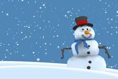 Snowman loop NTSC - stock footage