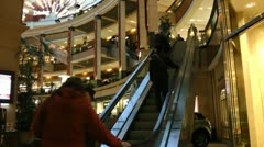 Christmas Shopping Seattle Stock Footage