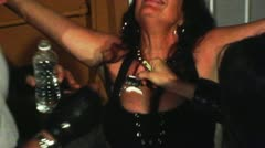 Stock Video Footage of Biker Style Cocaine Snorting at Biker Party