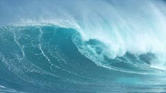 Giant Blue Ocean Wave Stock Footage