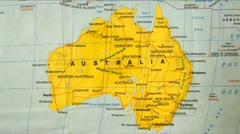 Australia Major Cities Map Zoom Stock Footage