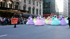Mobile Azalea trail maids in Macy's parade Stock Footage
