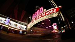 City of Reno Nevada Arch - stock footage