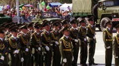 Parade in 9 of may Stock Footage