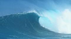 Giant Blue Ocean Wave - stock footage