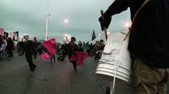 Dancers with Drummer at Occupy Oakland Stock Footage