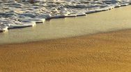 Waves On Tropical Sandy Beach at Sunset Stock Footage
