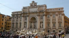 Trevi Fountain, Rome, Italy - stock footage