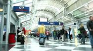 Time Lapse of People Walking in Airport Stock Footage
