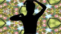 shadow girls bit 2 - stock footage