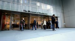 Entrance to the Museum of Modern Art - stock footage
