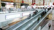 Crowd on escalator ''timelapse'' Stock Footage