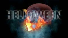 Halloween - Skull Stock Footage
