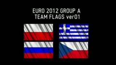 EURO 2012 Group A Flags 01 Stock Footage