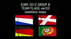 EURO 2012 Group B Flags 03 Stock Footage