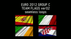 EURO 2012 Group C Flags 02 Stock Footage