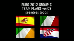 EURO 2012 Group C Flags 03 Stock Footage