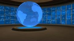 Virtual Set Animated Studio 39 A Stock Footage