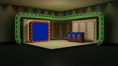 Virtual Set Animated Studio 31 A Stock Footage