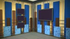 Virtual Set Animated Studio 36 A Stock Footage
