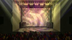 Virtual Set Animated Studio Rock Concert A - stock footage