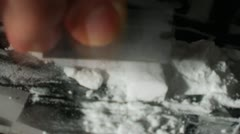 Preparing Cocaine For Snorting Time Lapse 3 - stock footage