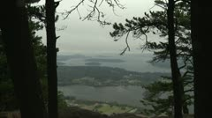 Mt Erie, WA, Islands, water Whidbey Island - stock footage