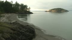 Whidbey Island, Deception Pass beach Stock Footage