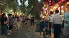 Chinese snack street Stock Footage